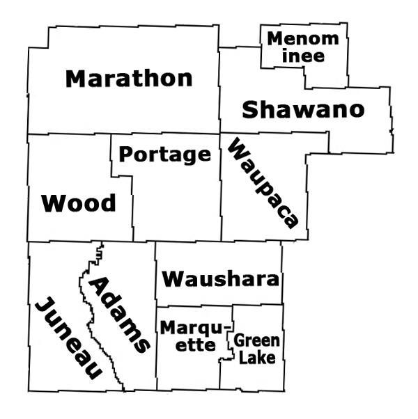 Central Wisconsin Map