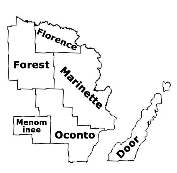 Northeast Wisconsin Map