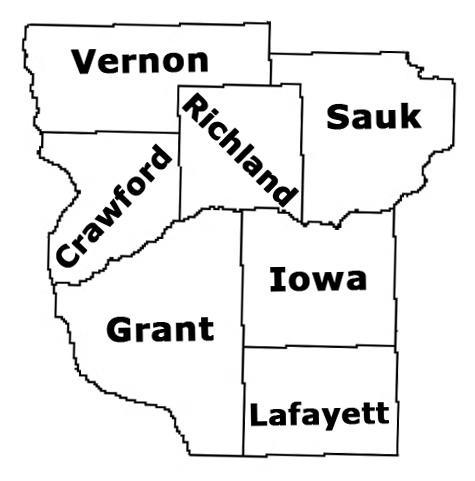 Southwest Wisconsin Map
