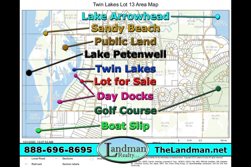 Twin Lakes Lakefront Land for Sale & Boat Slip on Lake Petenwell